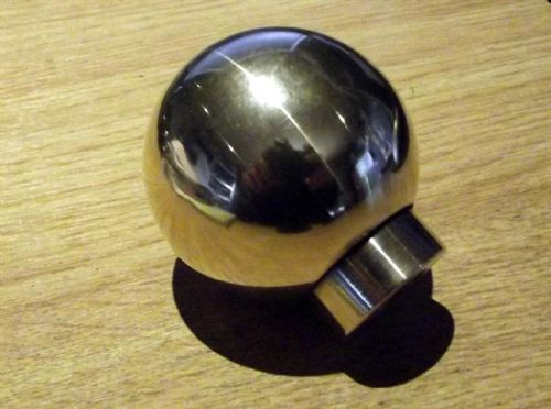Gearknob, Mazda MX-5, ball type, heavyweight, brass, polished